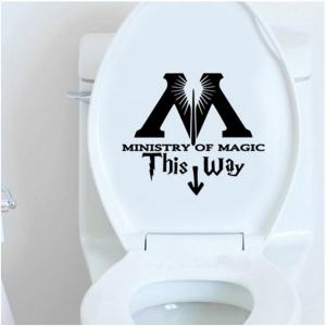toilet bowl decal