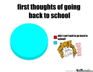 First thoughts of going back to school