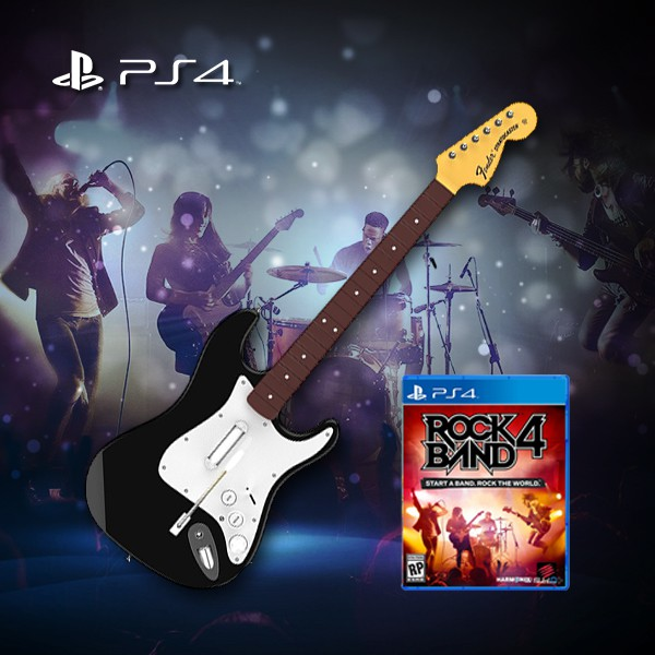 PS4 Rock Band 4 Wireless Guitar Bundle