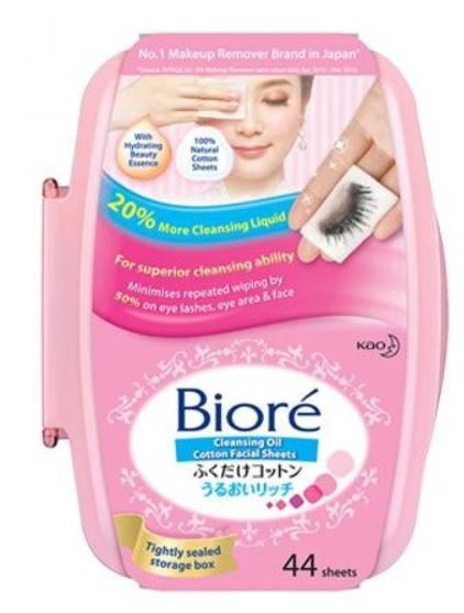 Biore Cleansing Oil Cotton Sheets