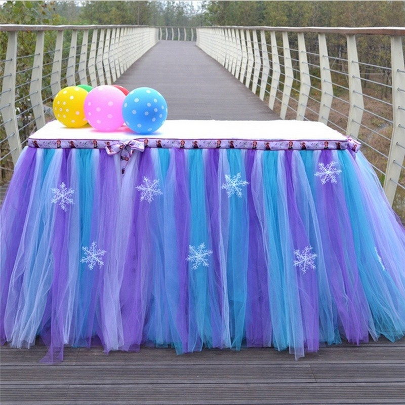 Table Skirt Tulle Tableware