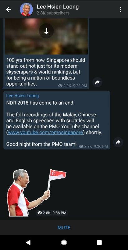 leehsienloong telegram channels bots stickers singapore