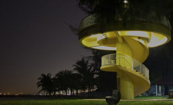 The Yellow Tower At East Coast Park