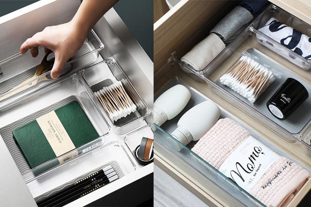 desk organiser clear drawer