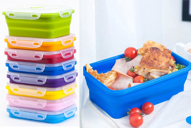 desk organiser foldable microwavable food container