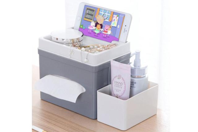 desk organiser tissue paper holder storage handphone