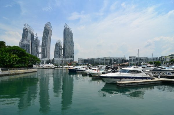 quiet places in singapore marina keppel bay