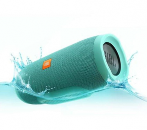 Cyan Cylindrical Wireless Speaker