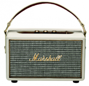 Cream Wireless Speaker with Guitar Amp Aesthetic