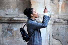 Tourist Photographer Smartphone Camera