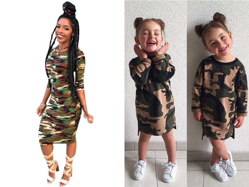 camo mother daughter dress