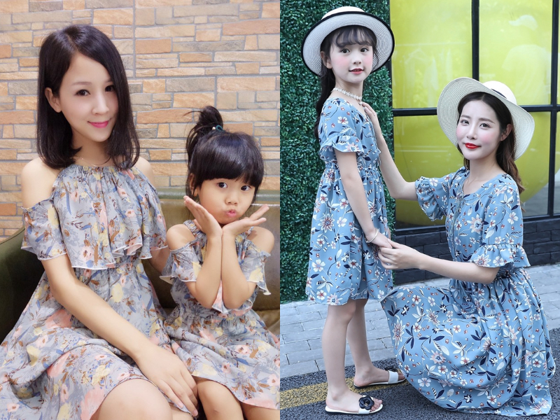 chiffon mother daughter dress