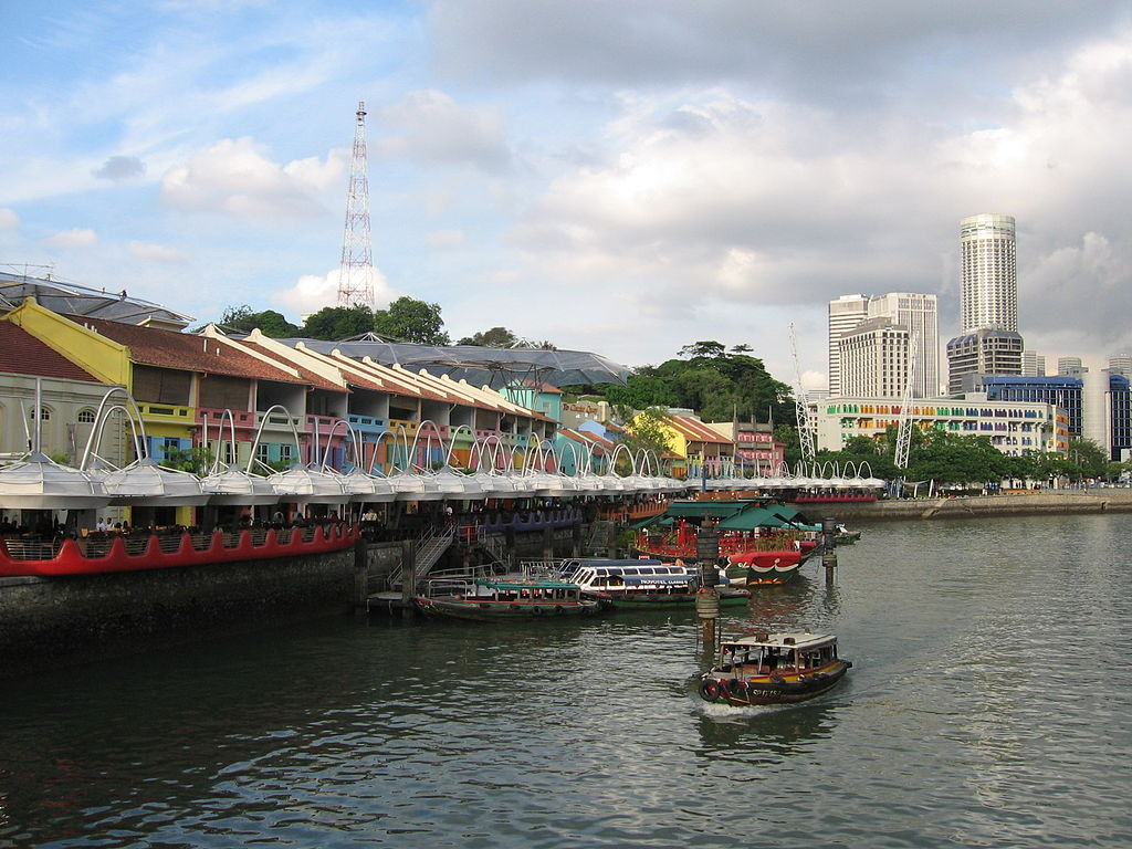 Clarke Quay Boats Singapore River