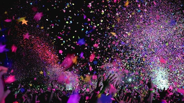 concert confetti encore
