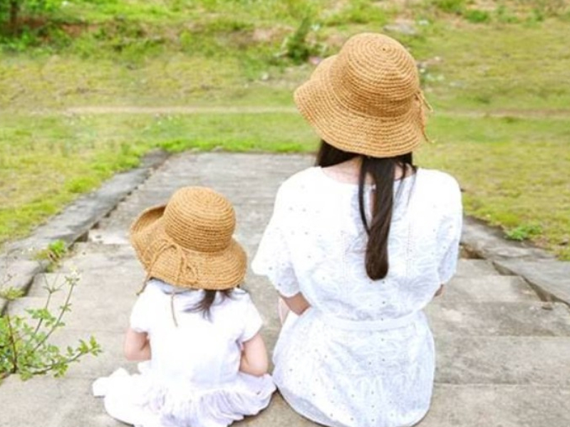 sun hat mother daughter dress