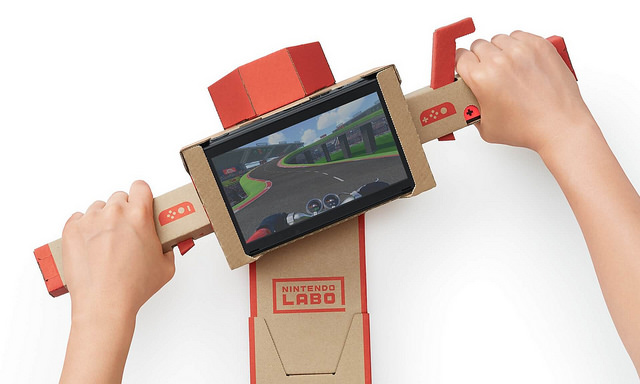 labo cardboard fishing rod