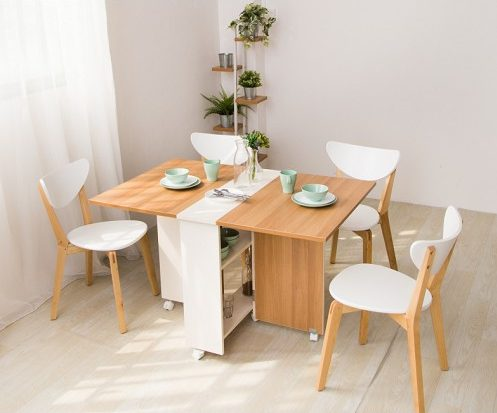 foldable dining table with storage bto flat