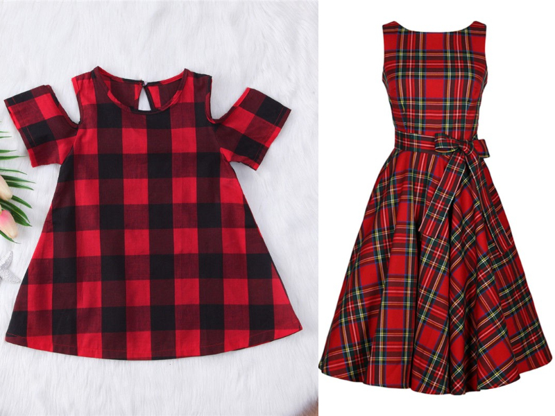 tartan mother daughter dress