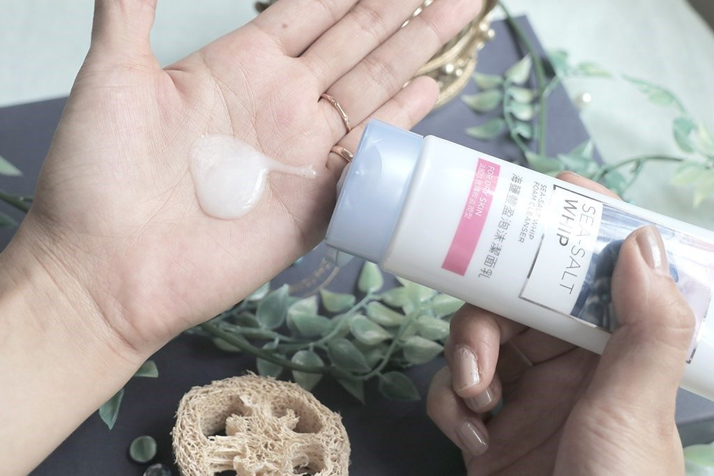 sea salt whip foam cleanser