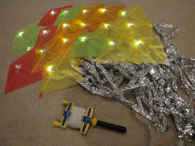 LED kite flying