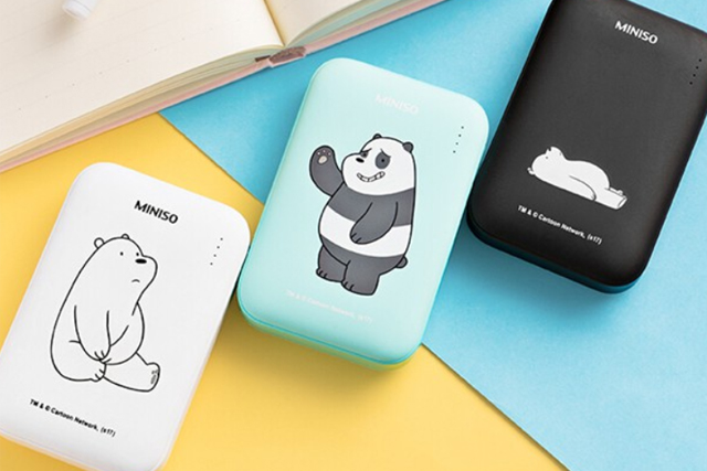 best power bank miniso we bare bears 6000mah