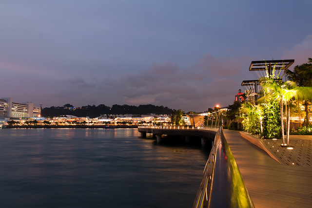 Instagram Worthy Places Singapore Sentosa Boardwalk Night