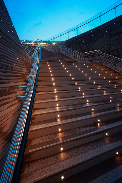 Instagram Worthy Places Singapore Sentosa Boardwalk Stairs Night
