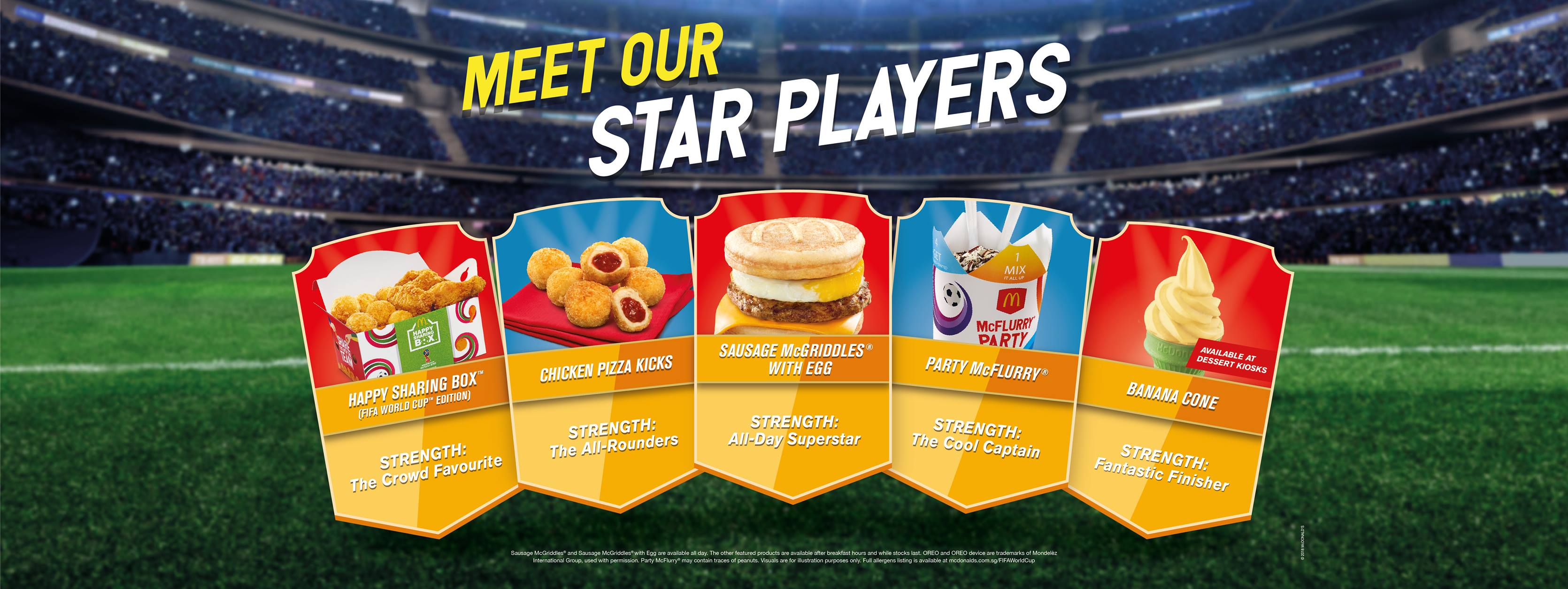 McDonald's mcgriddles world cup in Singapore