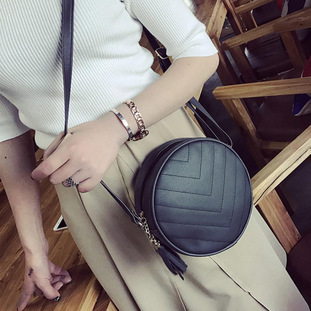 Tassel Round Bag