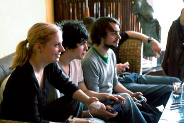 gaming console people playing
