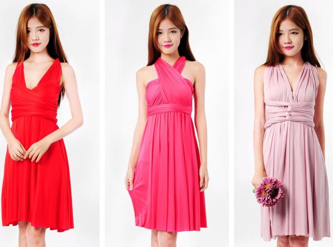 Multiway convertible bridesmaids dresses singapore