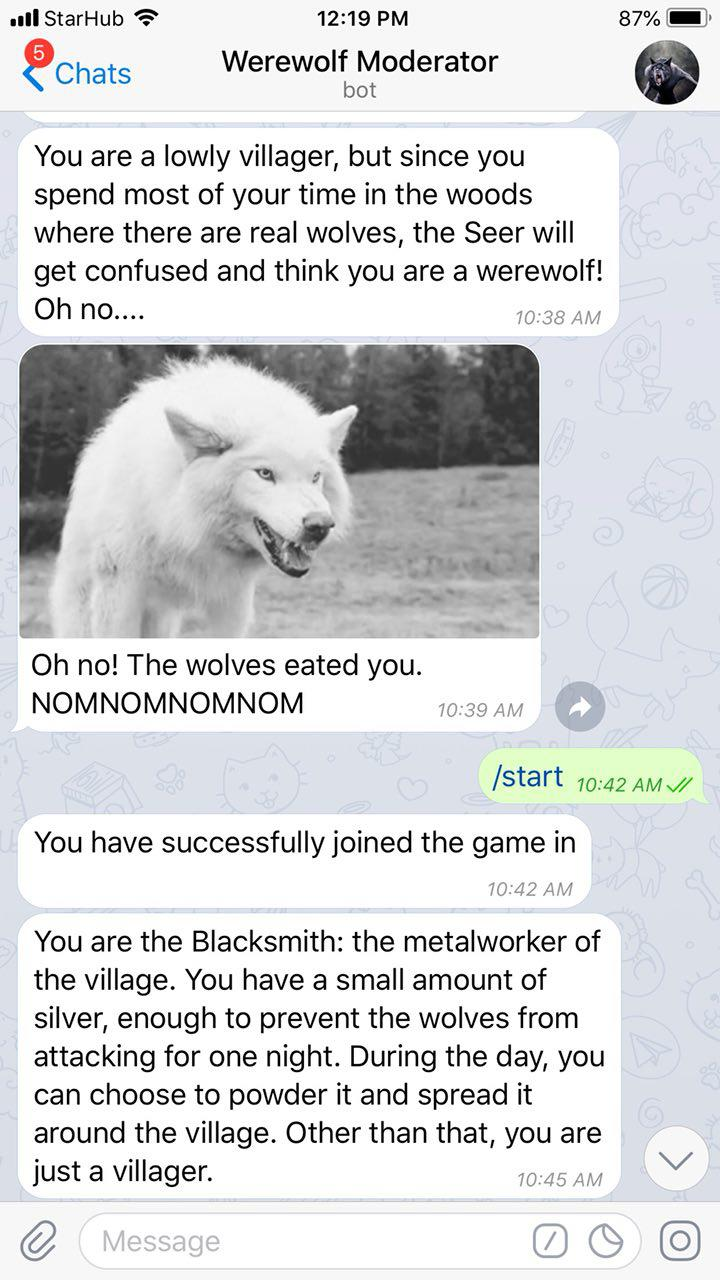 werewolf telegram game bot
