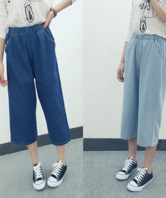 three quarter jeans