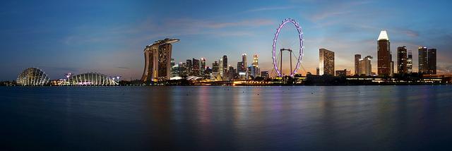 Bay East Garden Sunset Singapore