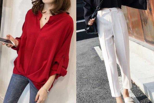 singapore national day ndp red white women working mum blouse work pants