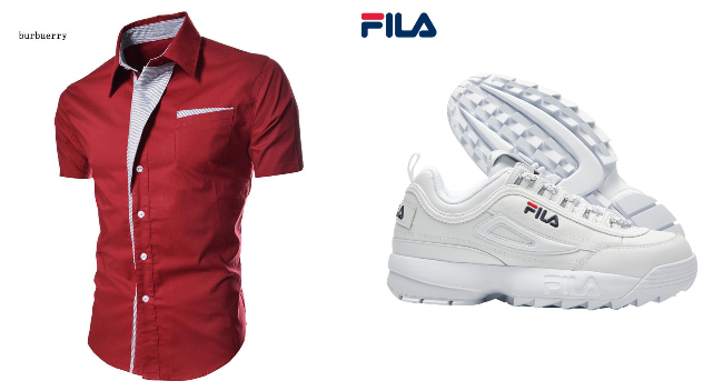 singapore national day red white ndp men shirt fila sneakers