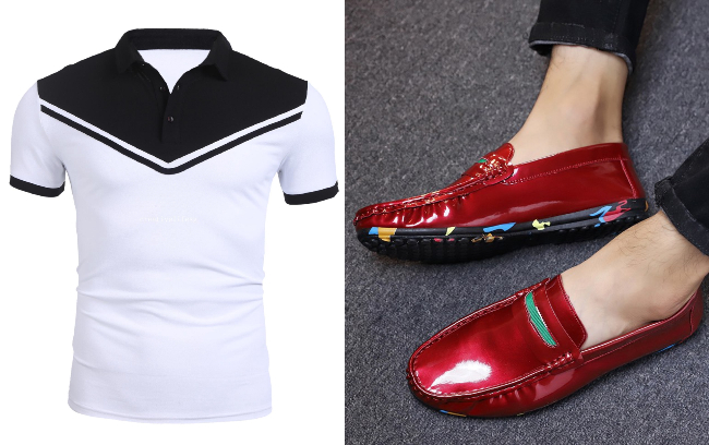singapore national day ndp red white men polo loafers