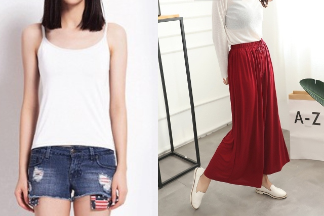 singapore national day ndp red white casual home women camisole wide legged pants