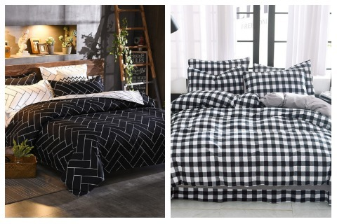 Room Decor Ideas Black and White Bedsheets