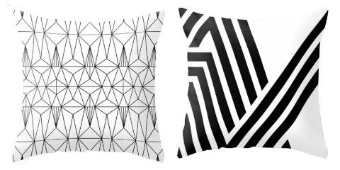 Room Decor Ideas Black and White Throw Pillow