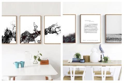 Room Decor Ideas Black and White Wall Art