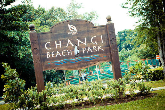 Hiking Trails Singapore Changi Beach Park Sign