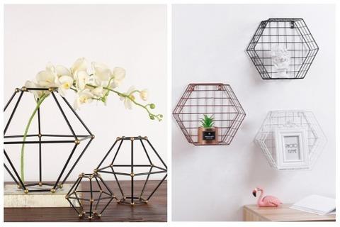 Room Decor Ideas Geometric Flower Holders