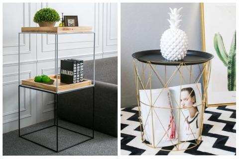 Room Decor Ideas Geometric Side Table