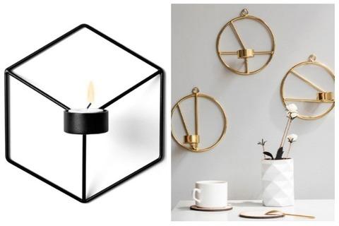 Room Decor Ideas Geometric Wall Candle Holder