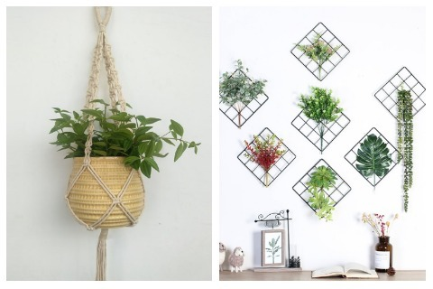 Room Decor Ideas Hanging Patterned Plants
