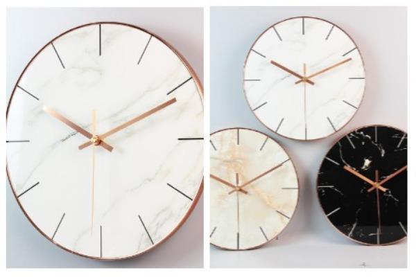 Room Decor Ideas Marble Clock