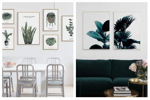 Room Decor Ideas Patterned Plants Wall Art