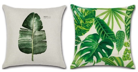 Room Decor Ideas Printed Plant Cushion