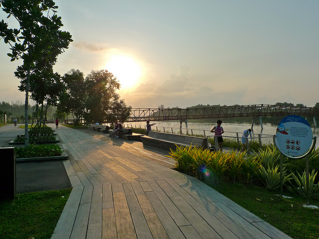 Punggol Waterway Park Sunset Singapore